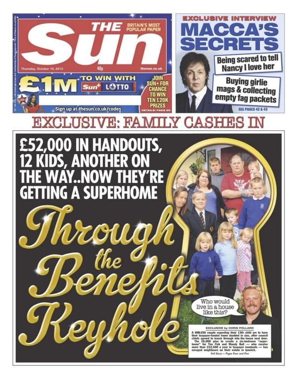 sun front page 10 oct