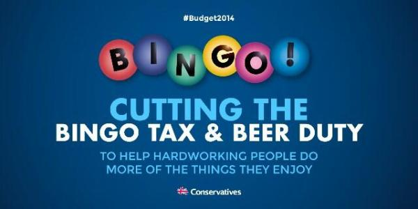 tory bingo and beer